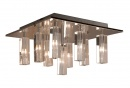 CUBO 9 Light Crystal Flush Pendant