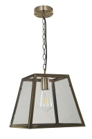 Creswick Vintage Lantern Look Pendant Antique Brass