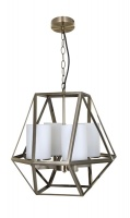 IPSWICH - Vintage Look 4 Light Pendant Antique Brass