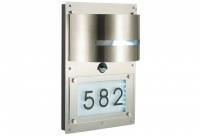 STRADA - Stainless Steel - Wall Light - LED Back Light - Number Display and Sensor