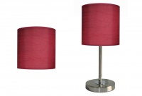 MIX AND MATCH Table Lamp Shades and Bases - Burgandy