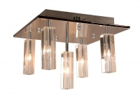 CUBO 5 Light Crystal Flush Pendant