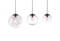 SFERA - Matte Black & Sphere Glass Pendants