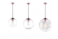 SFERA - Copper & Sphere Glass Pendants