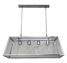 Creswick Vintage Lantern Look Pendant Polished Chrome