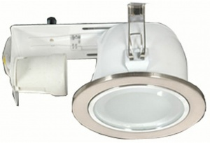 Vetro Downlight - 1 Light -12.5cm - Satin Chrome