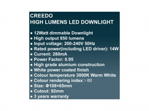 Creedo LED 12watt