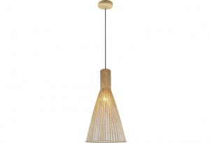NOVO - Scandinavian Wooden Look Pendant - X-Large - Natural Wood