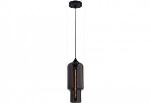 ZUCCA - Grey / Chrome - Vintage Industrial Glass Pendants
