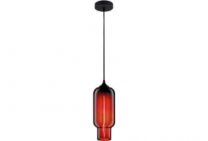 ZUCCA - Red - Vintage Industrial Glass Pendants